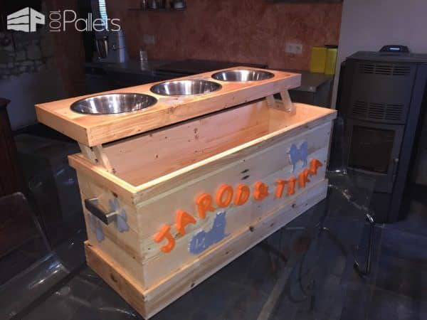 My Version Of The Dog Feeder + Storage Animal Pallet Houses & Pallet Supplies