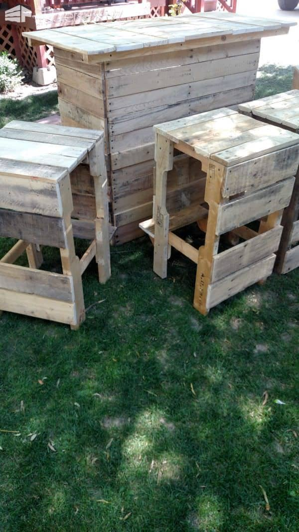 Outdoor Bar & Bar Stools By Rcp Pallet Benches, Pallet Chairs & Stools Pallet Store, Bar & Restaurant Decorations