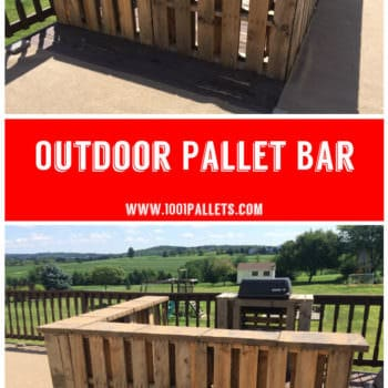 Outdoor Pallet Bar