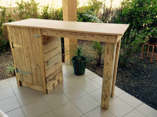 Pallet Bar / Table to Make the Most of My Small Apartment Pallet Desks & Pallet Tables