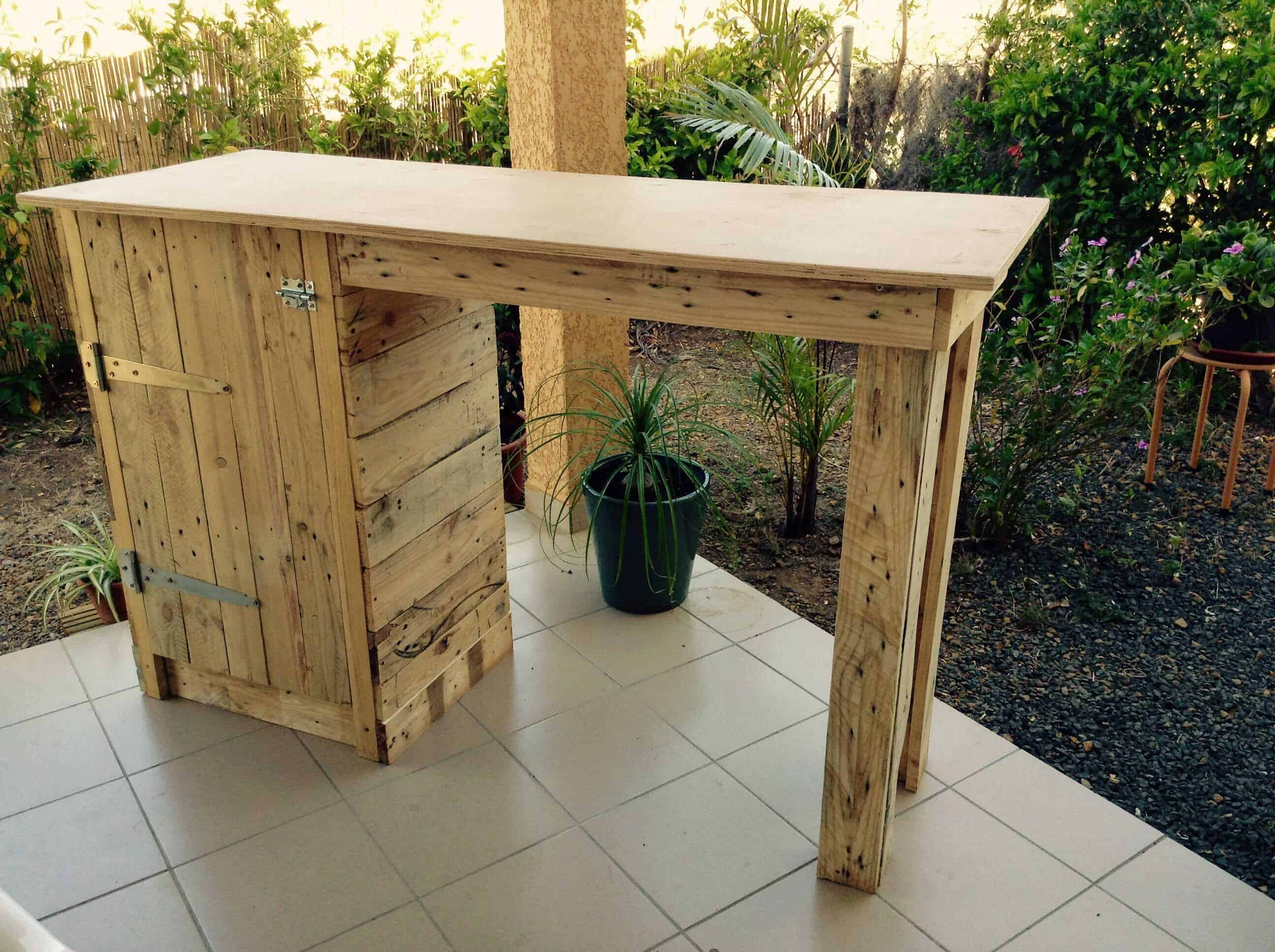 Pallet Bar / Table to Make the Most of My Small Apartment ...
