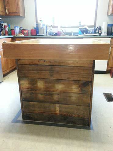 Pallet Butcher Block Island DIY Pallet Bars
