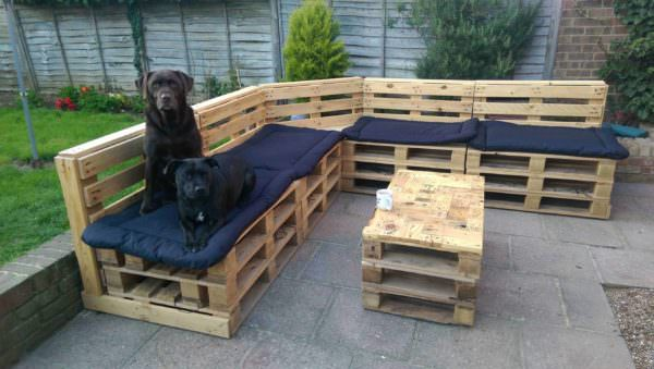 Pallet Garden Lounge Lounges & Garden Sets