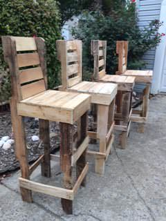 diy pallet high bar stools 1001 pallets. Black Bedroom Furniture Sets. Home Design Ideas