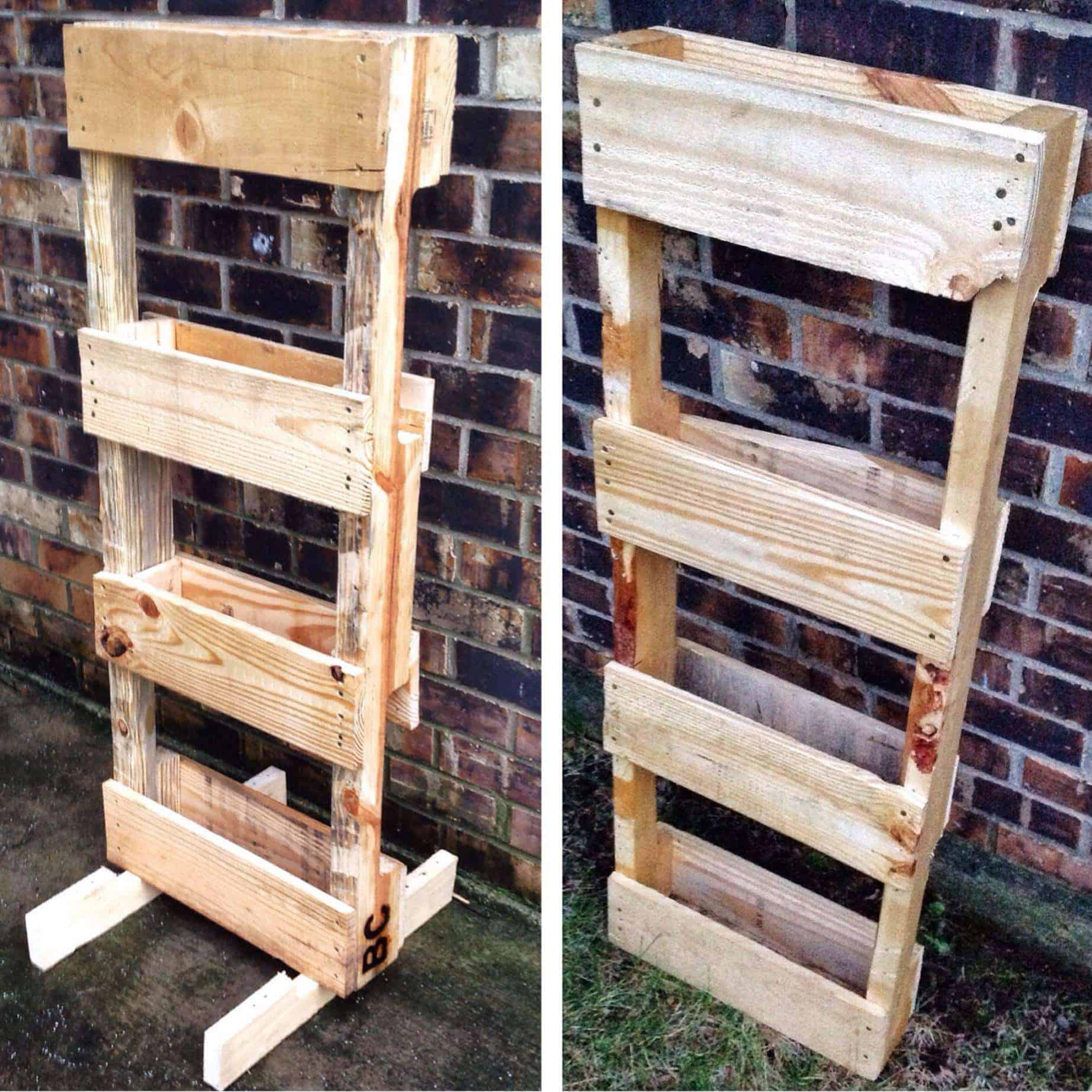 Pallet Vertical Planter • Pallet Ideas • 1001 Pallets