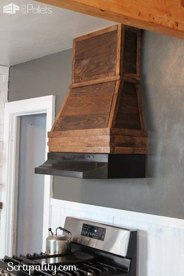 Rustic-Range-Hood-Using-Pallet-Wood-in-the-Kitchen