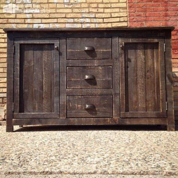 Rustic Pallet Buffet Pallet Cabinets & Pallet Wardrobes