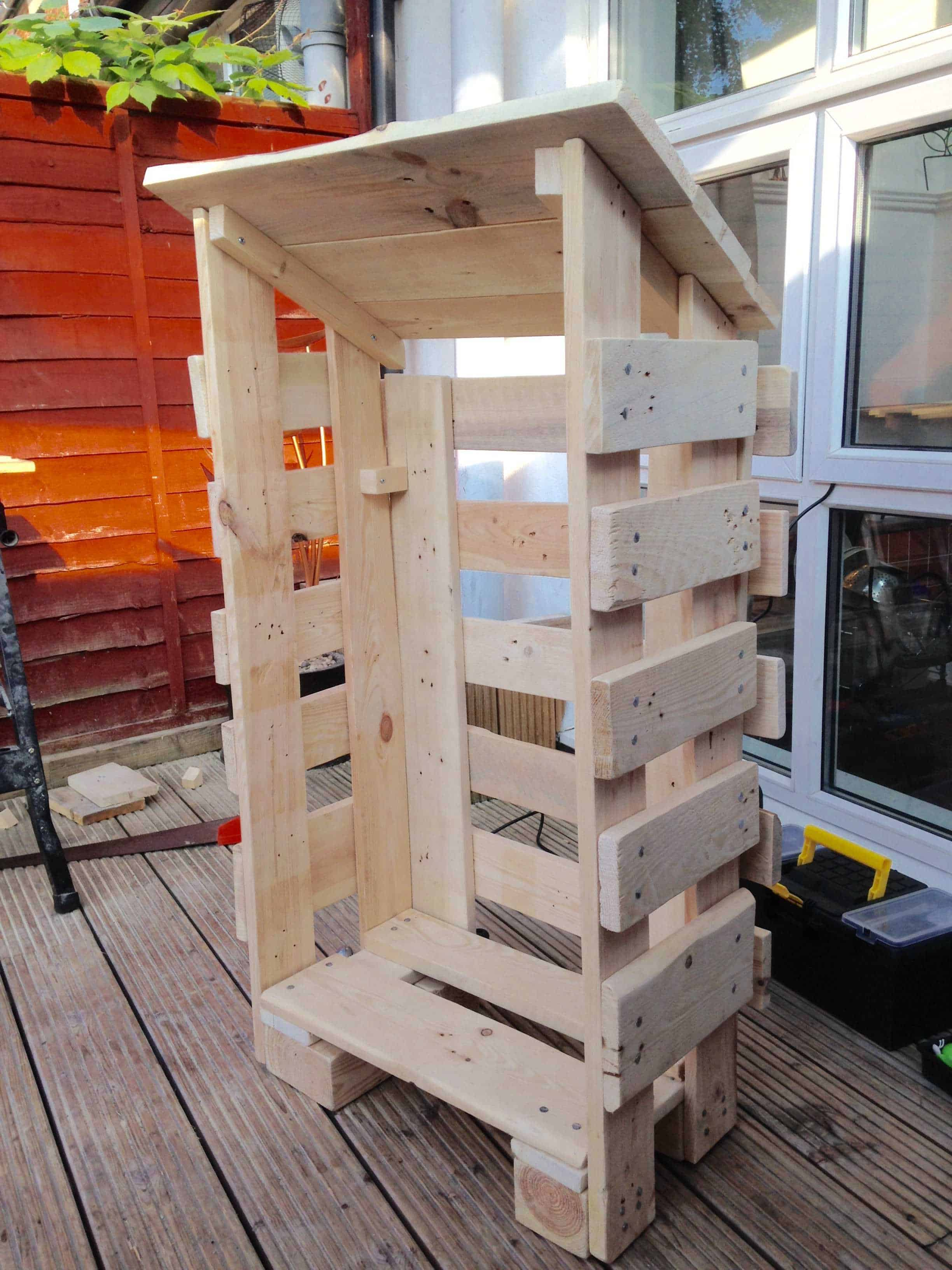 Small Log Store From Pallet Wood 1001 Pallets
