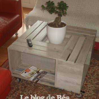 Table Basse Bar En Bois De Palettes / Pallet Coffee Table With Bar