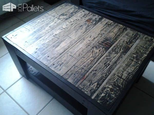 Table basse en palette pallet ideas 1001 pallets for Table basse palette roulette