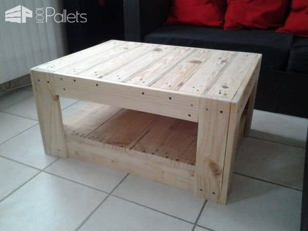 Table basse en palette pallet ideas 1001 pallets - Table basse colore ...