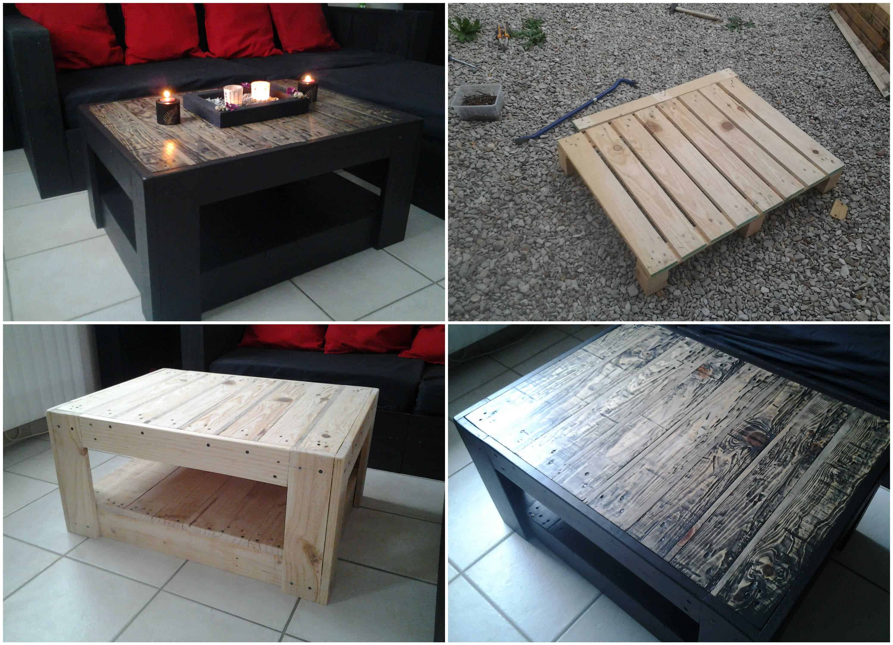 Table basse en palette pallet ideas 1001 pallets - Table basse palette roulettes ...