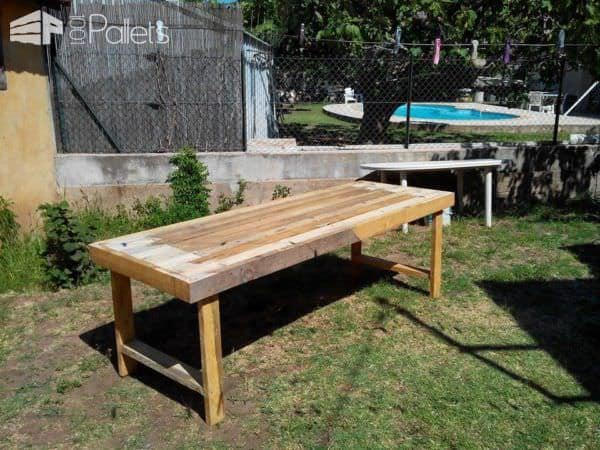 Table de jardin en palettes pallets garden table 1001 for Table jardin palette