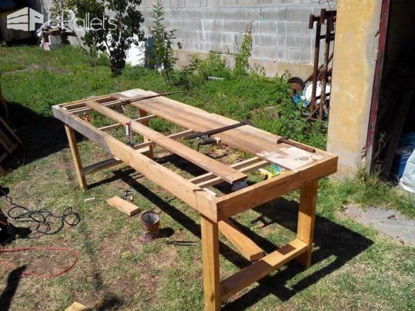 Table de jardin en palettes pallets garden table 1001 pallets for Idee table de jardin en palette