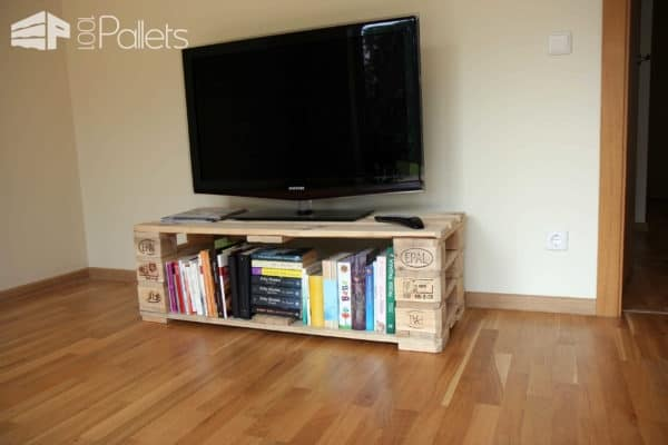Tv Stand from Pallets with Secret Compartment