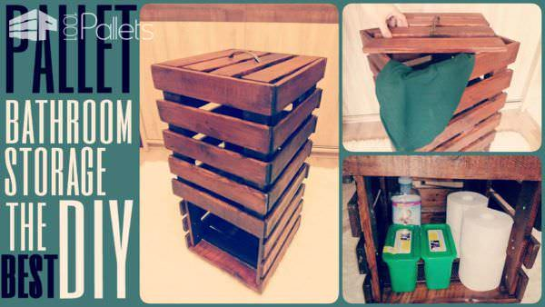 Pallet Bathroom Storage Pallet Boxes & Chests