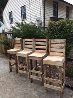 Pallet High Bar Stools Pallet Benches, Pallet Chairs & Pallet Stools