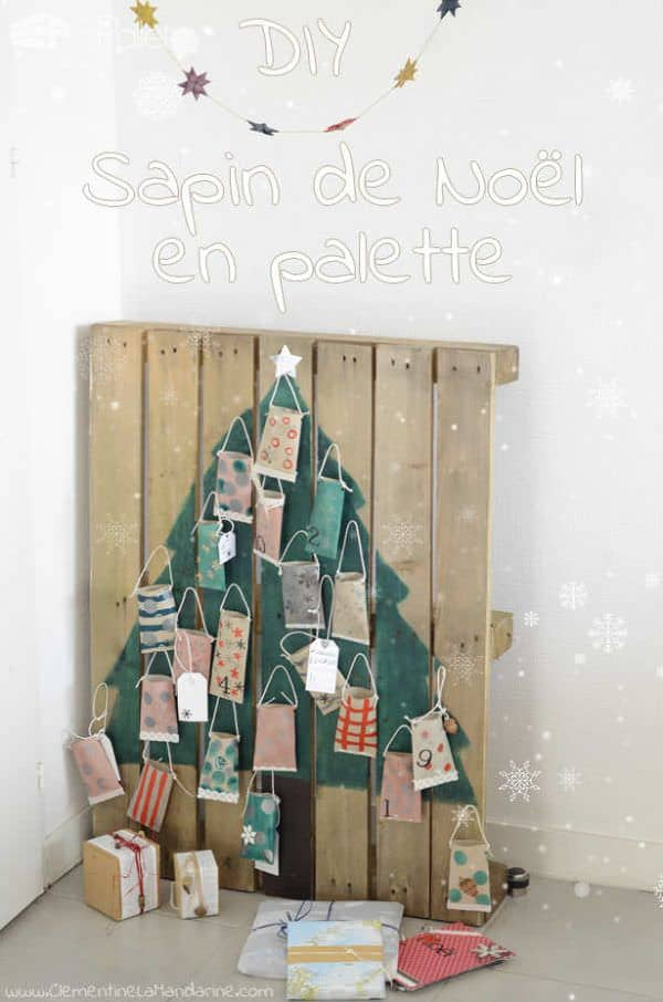 40 pallet christmas trees holiday decorations ideas - Sapin de noel en palette ...