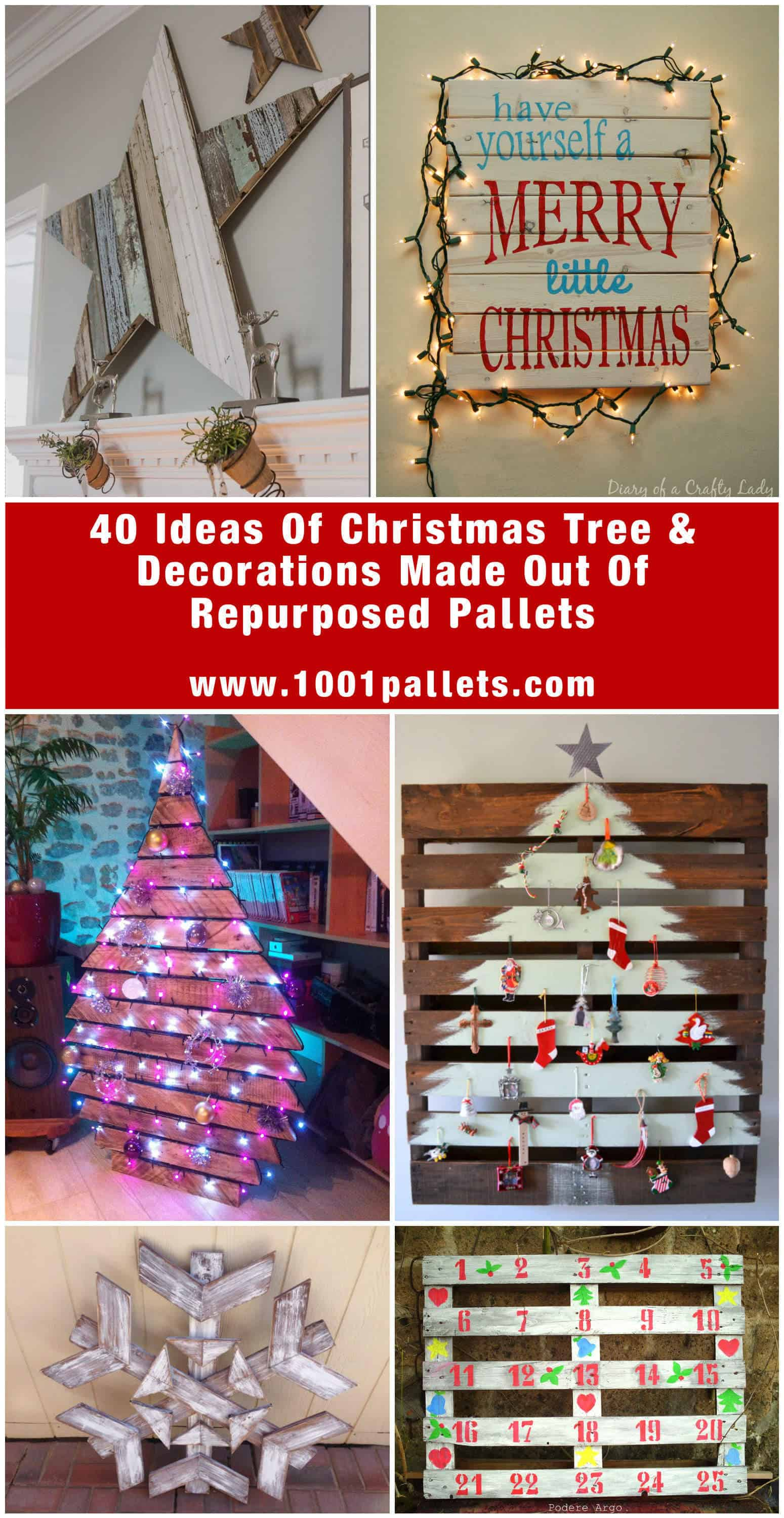 40 Pallet Christmas Trees Amp Holiday Decorations Ideas