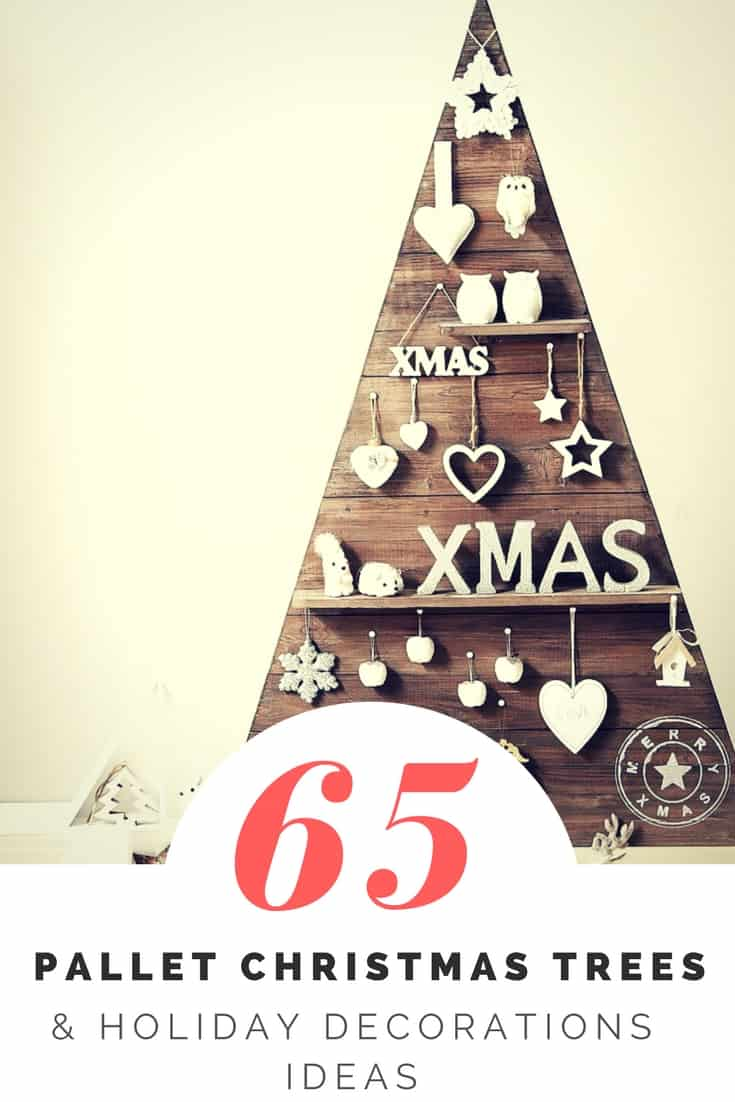 65 Pallet Christmas Trees Amp Holiday Pallet Decorations