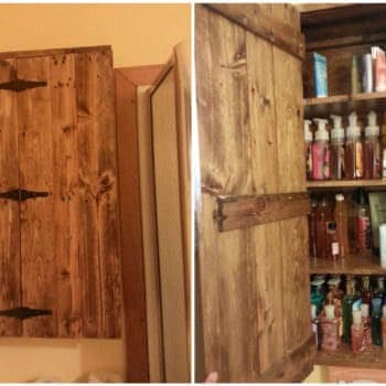 Bathroom Practical Pallet Cabinet