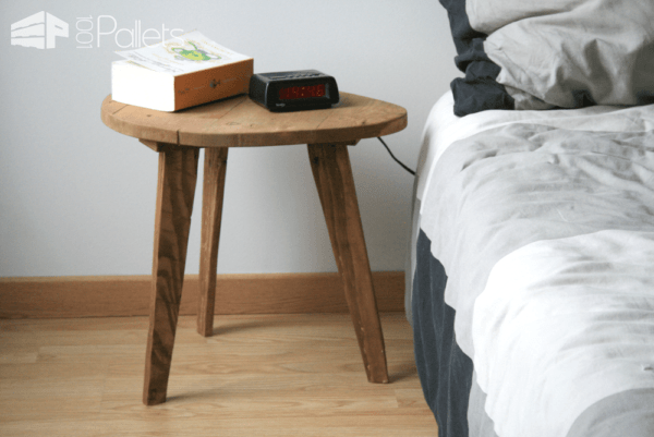 Bedside Table From Pallets Pallet Desks & Pallet Tables