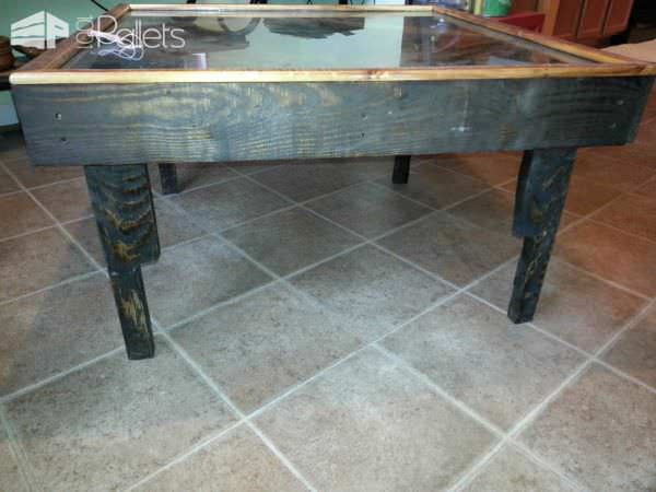Black Walnut Pallet into Coffee Table Pallet Coffee Tables