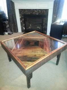 Black Walnut Pallet Into Coffee Table 1001 Pallets