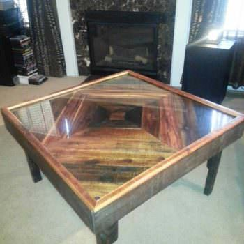 Black Walnut Pallet into Coffee Table