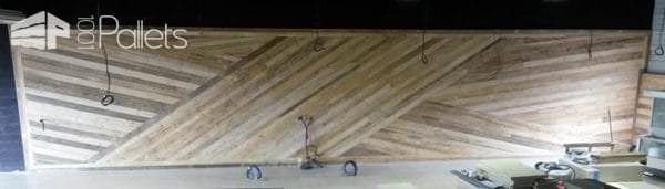 Décoration Murale / Wall Decoration Out Of Repurposed Pallets
