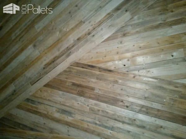 Décoration Murale / Wall Decoration Out Of Repurposed Pallets Pallet Walls & Pallet Doors