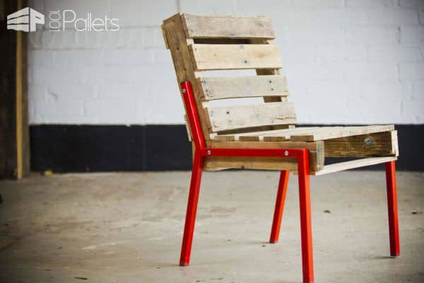 Full Back Pallet Chair Pallet Benches, Pallet Chairs & Stools