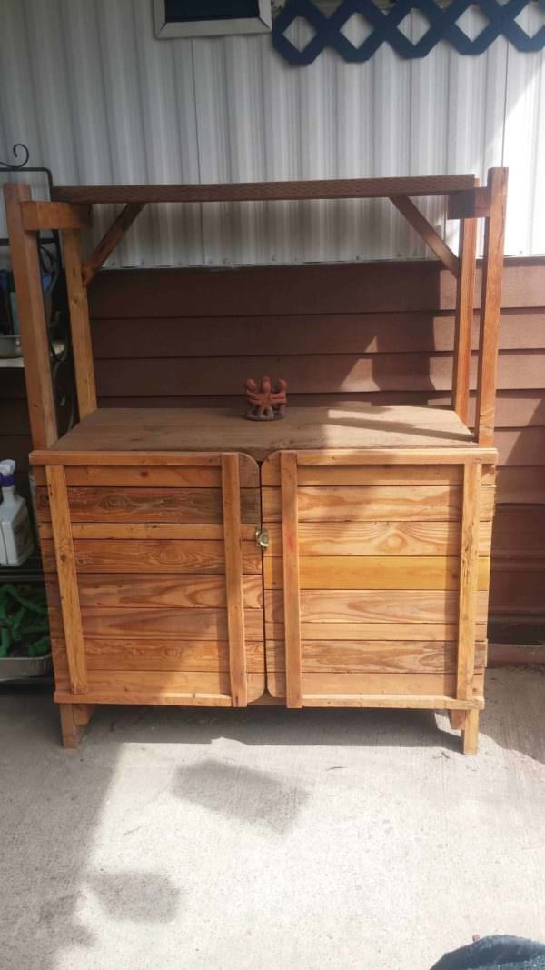 Garden Outdoor Cabinet out of Pallet Wood Pallet Cabinets & Pallet Wardrobes