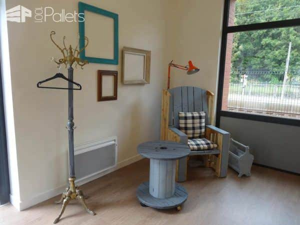 Grandma's Armchair Revisited With Pallets Pallet Benches, Pallet Chairs & Pallet Stools
