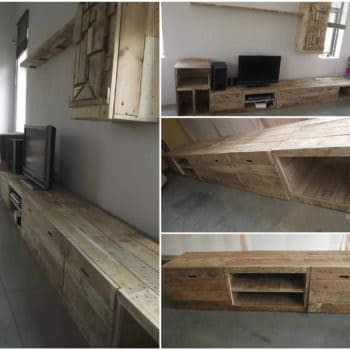 Long & Design Pallet TV Stand