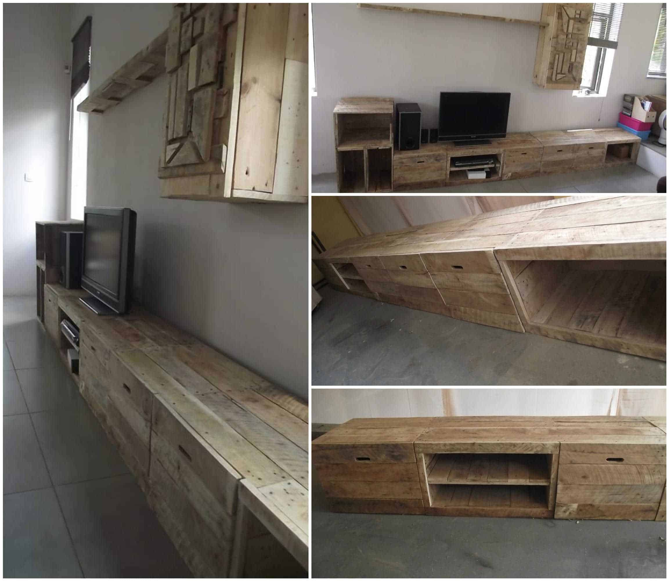 Long Amp Design Pallet Tv Stand 1001 Pallets
