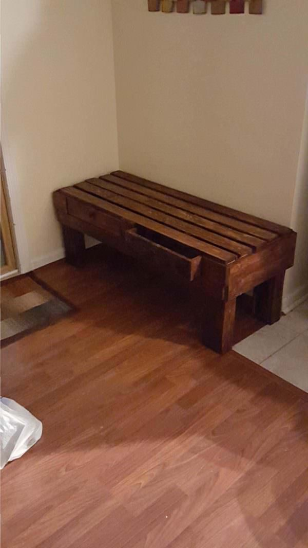 Outdoor Bench Or Coffee Table Pallet Benches, Pallet Chairs & Stools Pallet Coffee Tables