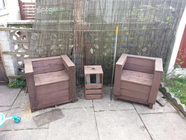Outdoor Bench & Table Pallet Benches, Pallet Chairs & Stools