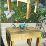 Outdoor Pallet Coffee Table