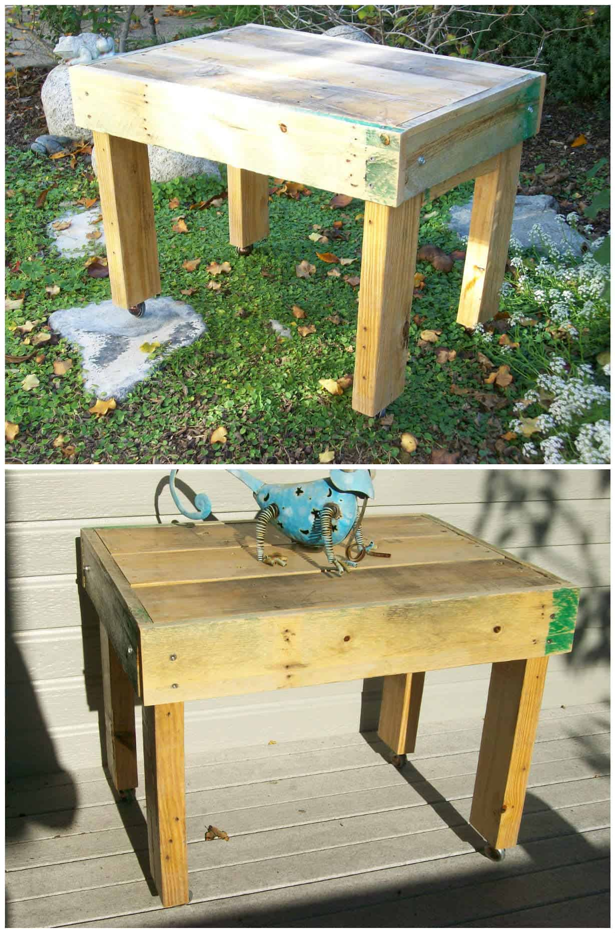 Outdoor Pallet Coffee Table • 1001 Pallets