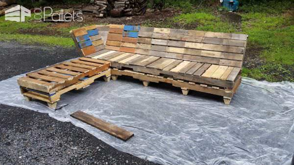 Outdoor Pallet Relaxation Sofa Lounges & Garden SetsPallet Sofas & Couches