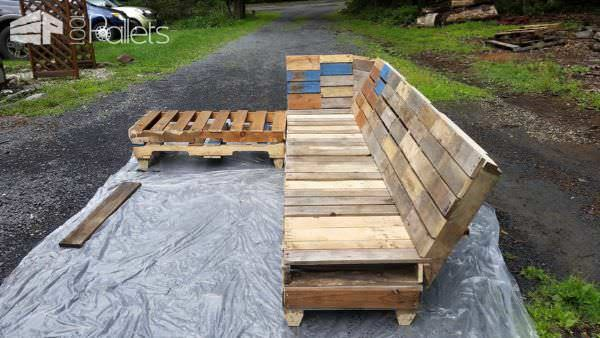 Outdoor Pallet Relaxation Sofa Lounges & Garden Sets Pallet Sofas