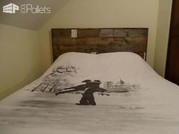 palet bed headboard t te de lit esprit recup 1001 pallets. Black Bedroom Furniture Sets. Home Design Ideas