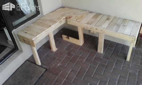 Pallet Corner Bench Pallet Benches, Pallet Chairs & Stools