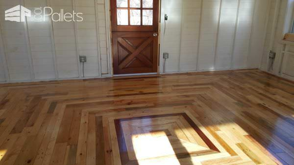 Pallet Floor in My Outback Cottage Pallet Floors & Decks Pallet Sheds, Cabins, Huts & Playhouses
