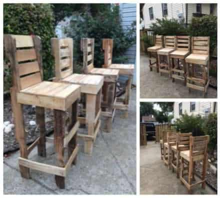 Diy Pallet High Bar Stools