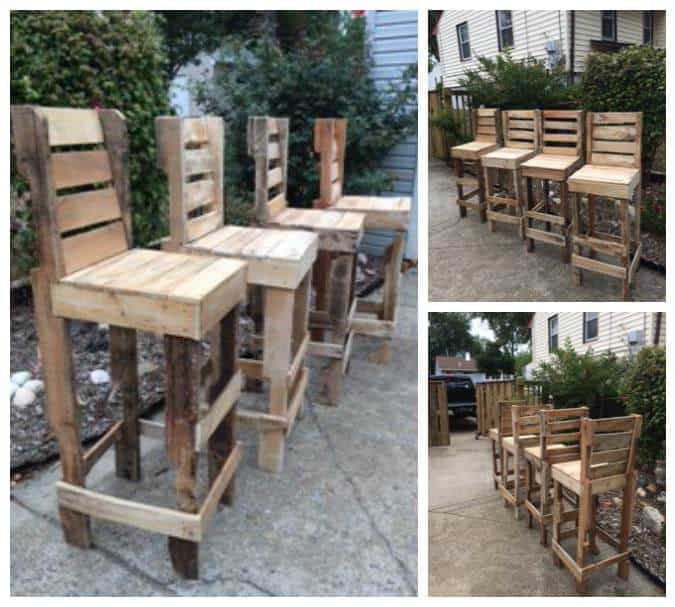 Diy Pallet High Bar Stools 1001 Pallets