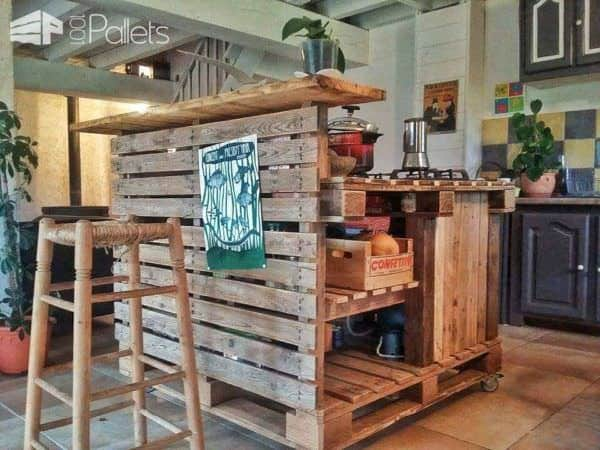 Pallet Mobile Kitchen Island • 1001 Pallets