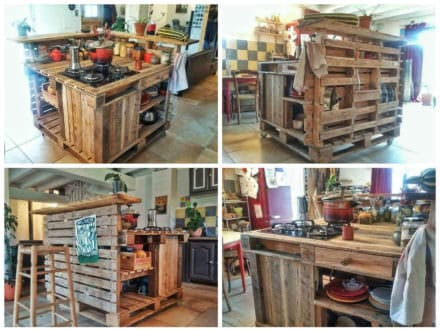 Pallet Mobile Kitchen Island