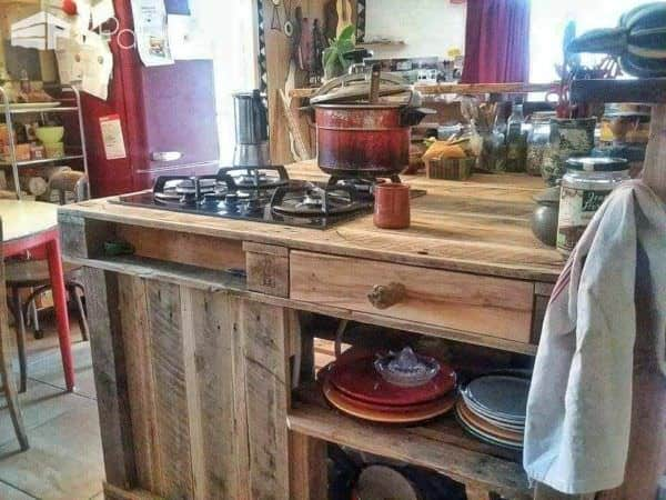 Pallet Mobile Kitchen Island Pallet Desks & Pallet Tables